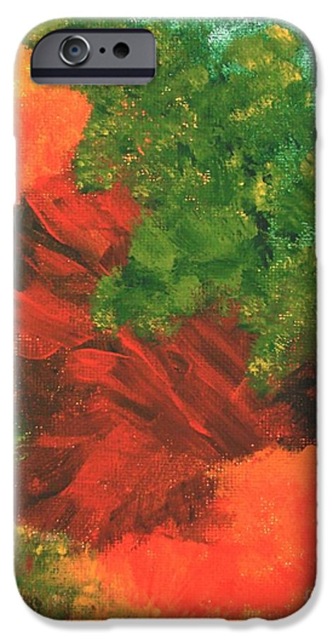 Abstract IPhone 6 Case featuring the painting Autumn Equinox by Itaya Lightbourne