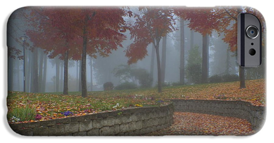 Autumn IPhone 6 Case featuring the photograph Autumn Fog by Idaho Scenic Images Linda Lantzy
