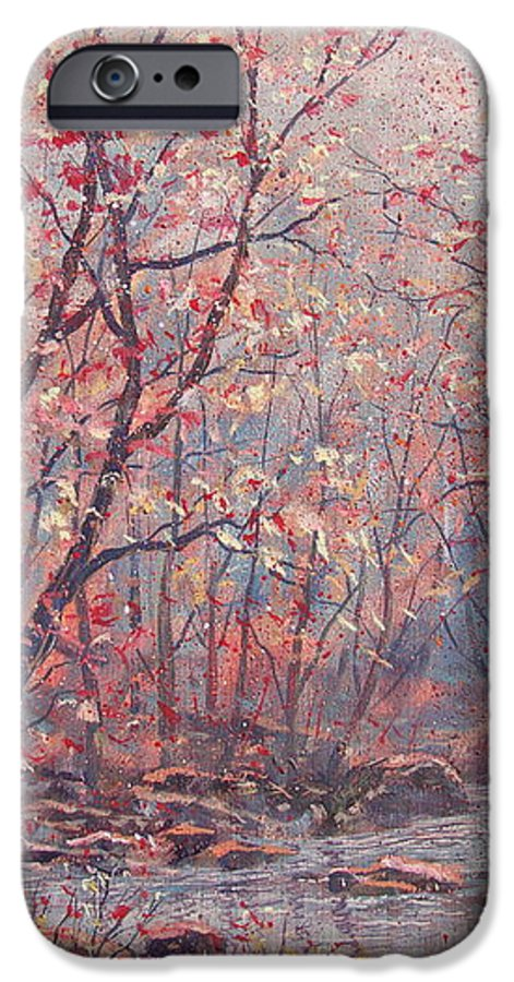Landscape IPhone 6 Case featuring the painting Autumn Harmony. by Leonard Holland