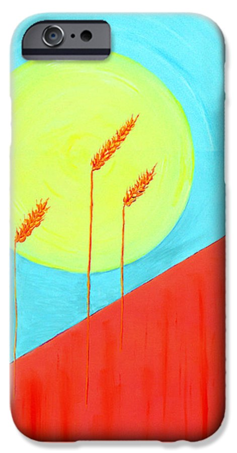 Landscape IPhone 6 Case featuring the painting Autumn Harvest by J R Seymour