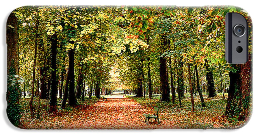 Autumn IPhone 6 Case featuring the photograph Autumn In The Park by Nancy Mueller