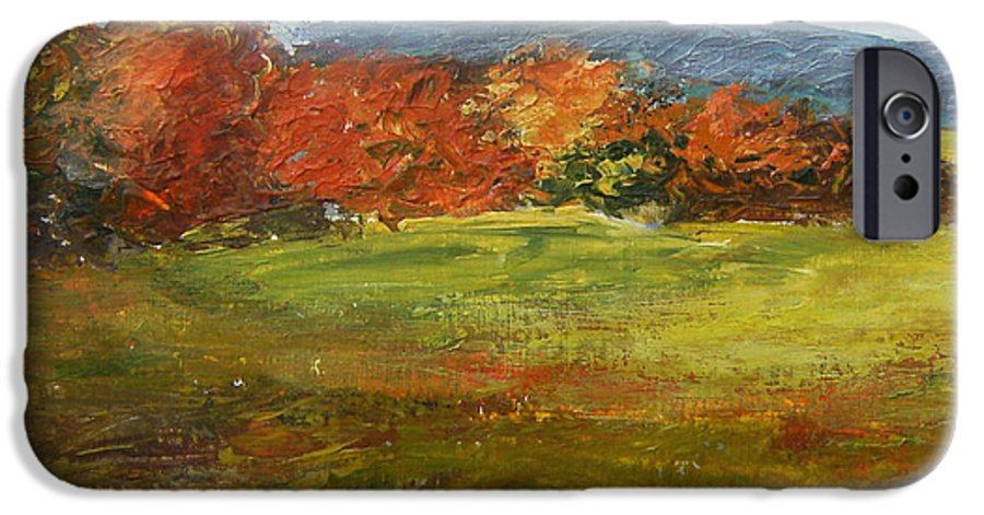 Landscape IPhone 6 Case featuring the painting Autumn Is Here by Tami Booher