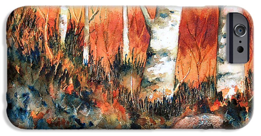 Landscape IPhone 6 Case featuring the painting Autumn by Karen Stark