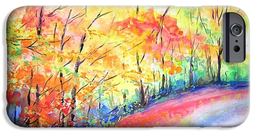 Autumn IPhone 6 Case featuring the painting Autumn Lane Iv by Lizzy Forrester