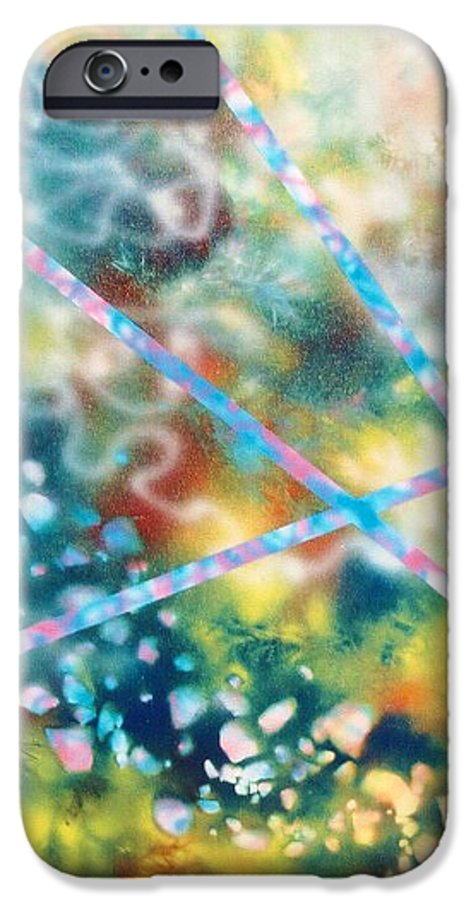 Abstract IPhone 6 Case featuring the painting Autumn by Micah Guenther