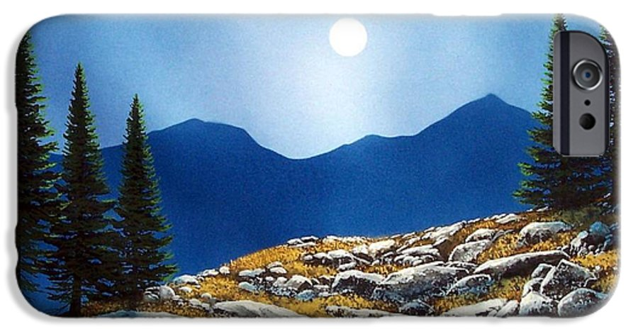 Landscape IPhone 6 Case featuring the painting Autumn Moon by Frank Wilson