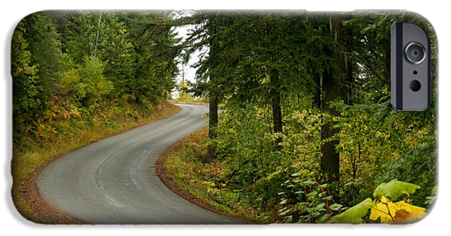 Road IPhone 6 Case featuring the photograph Autumn Road by Idaho Scenic Images Linda Lantzy