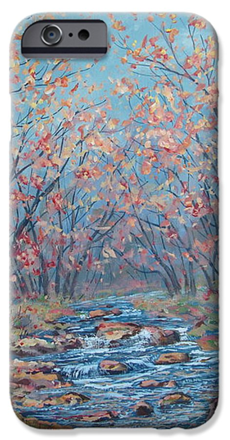 Landscape IPhone 6 Case featuring the painting Autumn Serenity by Leonard Holland