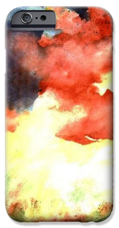 Autumn IPhone 6 Case featuring the painting Autumn Storm by Andrew Gillette