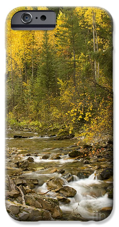 Idaho IPhone 6 Case featuring the photograph Autumn Stream by Idaho Scenic Images Linda Lantzy