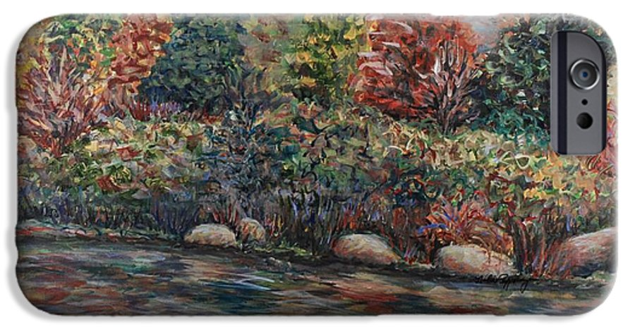Autumn IPhone 6 Case featuring the painting Autumn Stream by Nadine Rippelmeyer