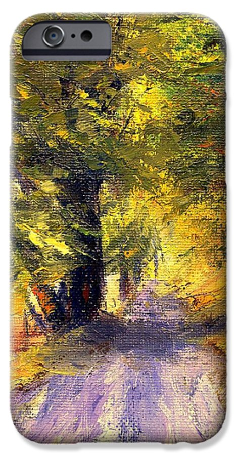 Autumn IPhone 6 Case featuring the painting Autumn Walk by Gail Kirtz