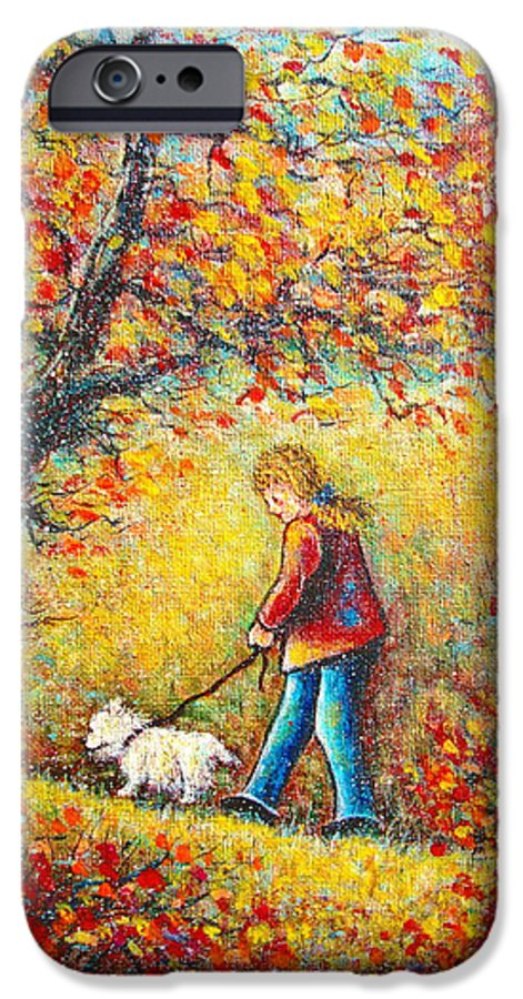 Landscape IPhone 6 Case featuring the painting Autumn Walk by Natalie Holland