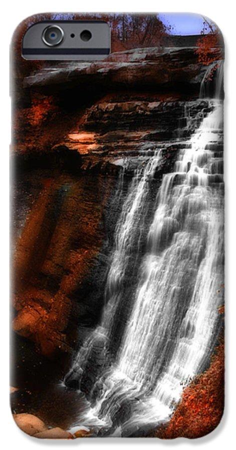 Autumn IPhone 6 Case featuring the photograph Autumn Waterfall 3 by Kenneth Krolikowski