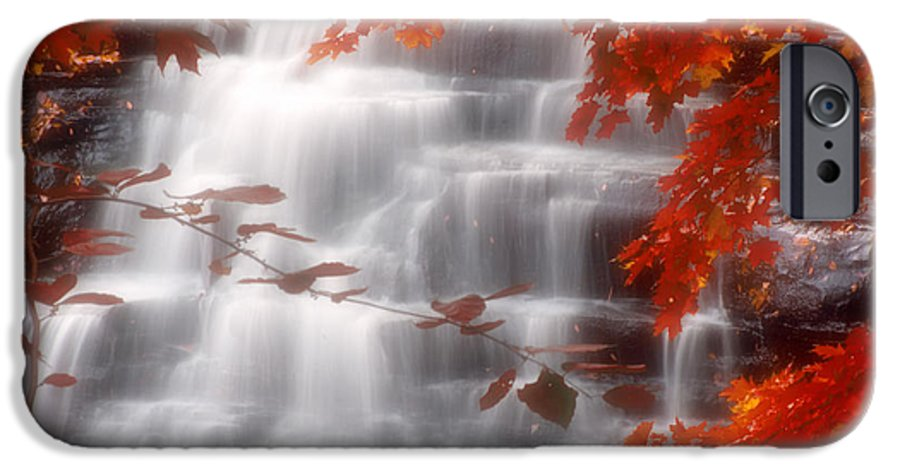 Autumn IPhone 6 Case featuring the photograph Autumn Waterfall I by Kenneth Krolikowski
