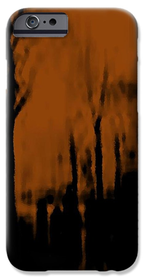 Trees.street.rain.clouds.wet People.the Naked Branches Of The Trees.the Gloomy Light. IPhone 6 Case featuring the digital art Autumn Wet Day by Dr Loifer Vladimir
