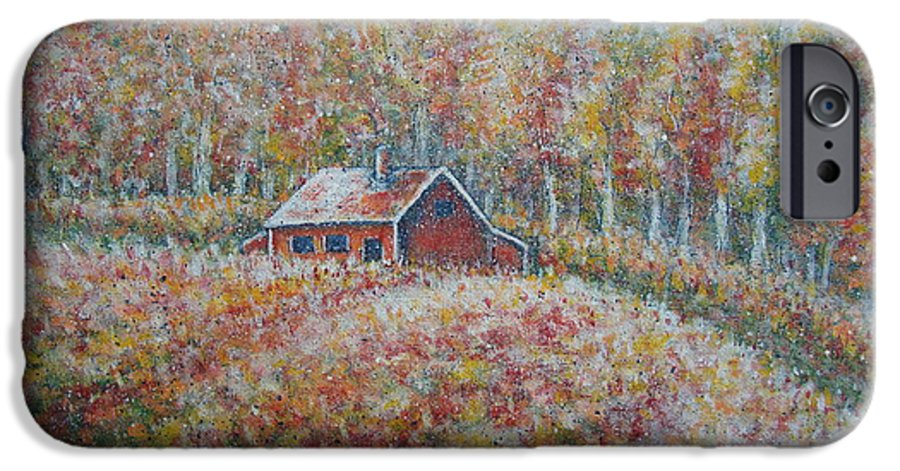 Landscape IPhone 6 Case featuring the painting Autumn Whisper. by Natalie Holland