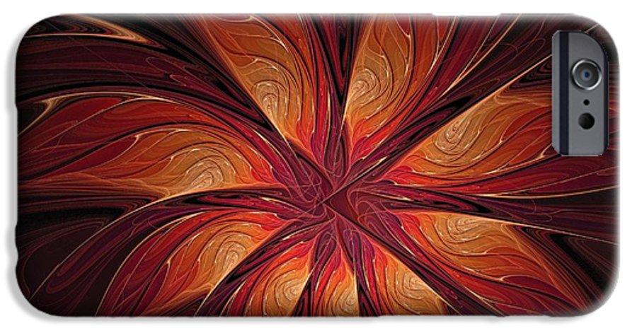 Digital Art IPhone 6 Case featuring the digital art Autumnal Glory by Amanda Moore