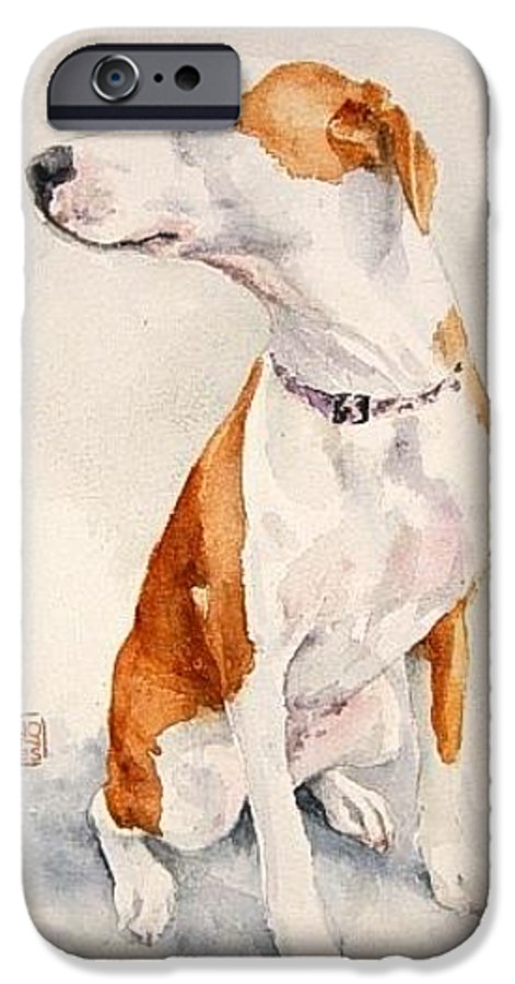 Dog IPhone 6 Case featuring the painting Aviator by Debra Jones