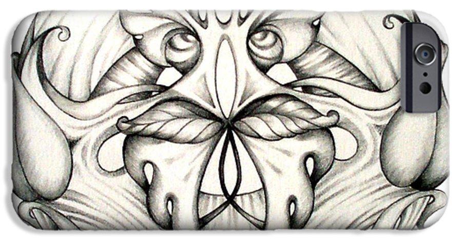 Mandala IPhone 6 Case featuring the drawing Awakening by Shadia Derbyshire