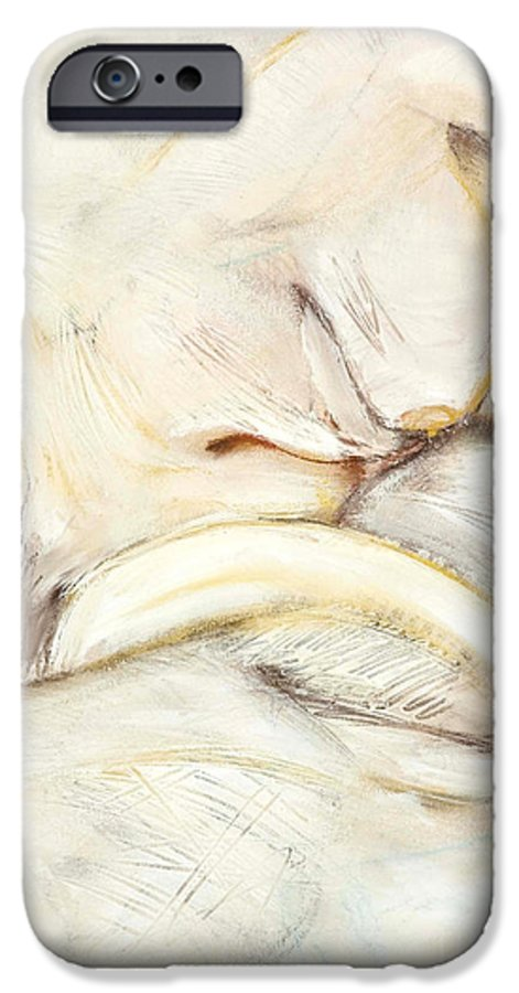 Female IPhone 6 Case featuring the drawing Award Winning Abstract Nude by Kerryn Madsen-Pietsch