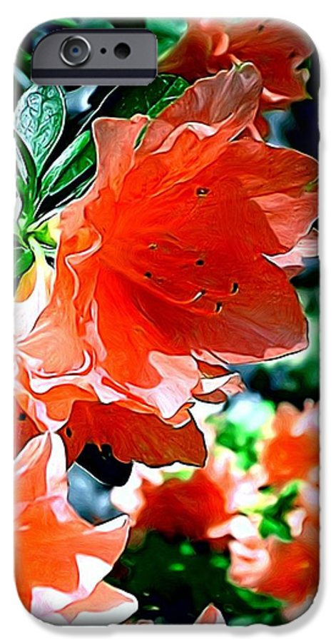 Fine Art IPhone 6 Case featuring the painting Azaleas In The Spring by Patricia Griffin Brett