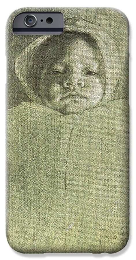IPhone 6 Case featuring the painting Baby Self Portrait by Joe Velez