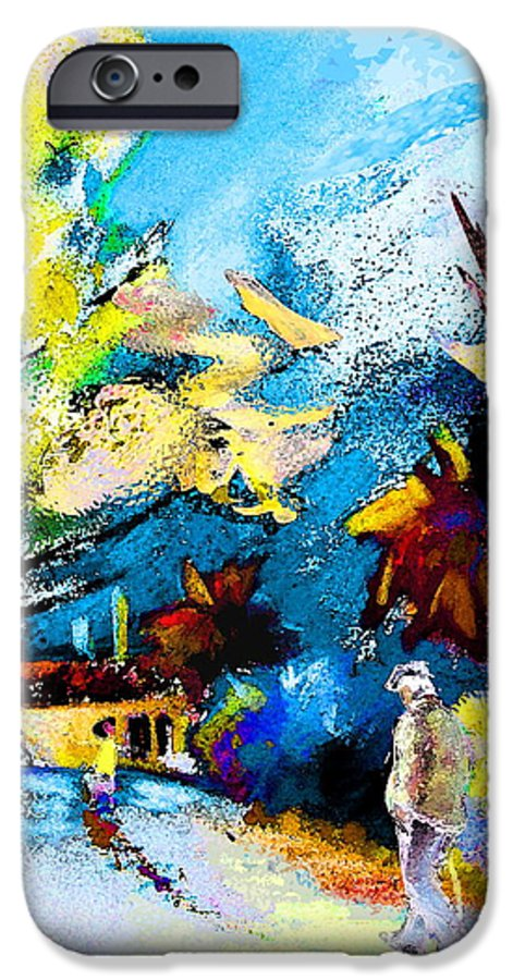 Pastel Painting IPhone 6 Case featuring the painting Back Home by Miki De Goodaboom