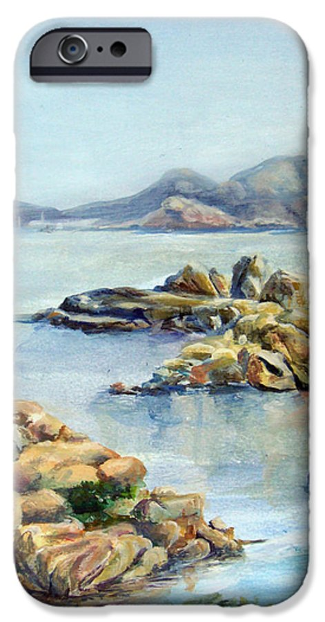 Landscape IPhone 6 Case featuring the painting Baie by Muriel Dolemieux