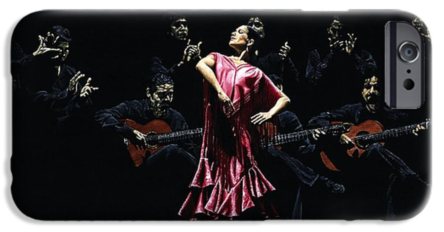 Flamenco IPhone 6 Case featuring the painting Bailarina Orgullosa Del Flamenco by Richard Young