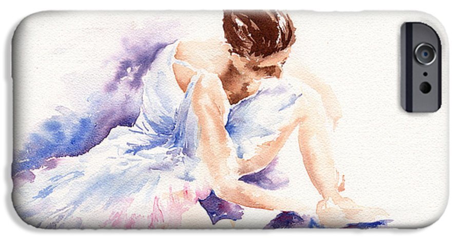 Ballerina IPhone 6 Case featuring the painting Ballerina by Stephie Butler