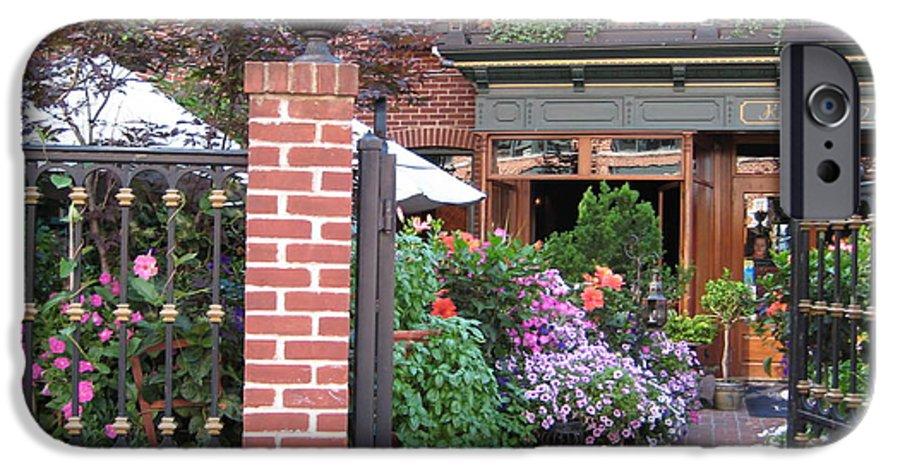 Courtyard IPhone 6 Case featuring the photograph Baltimore Cafe     By Jean Carton by Jerrold Carton