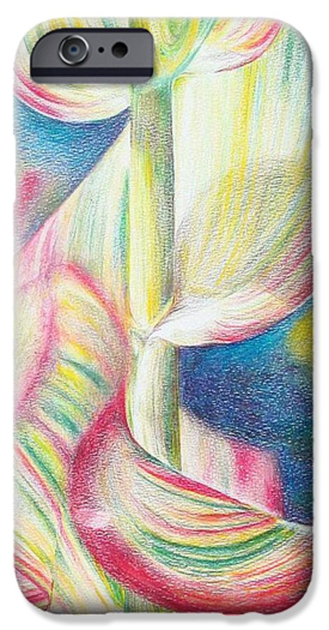 Flower IPhone 6 Case featuring the painting Bambou by Muriel Dolemieux