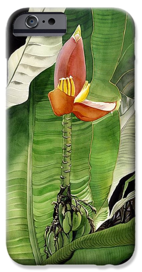 Flower IPhone 6 Case featuring the painting Banana Blossom by Alfred Ng