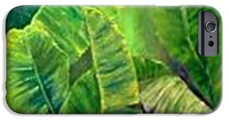 IPhone 6 Case featuring the painting Banana Leaves by Carol P Kingsley