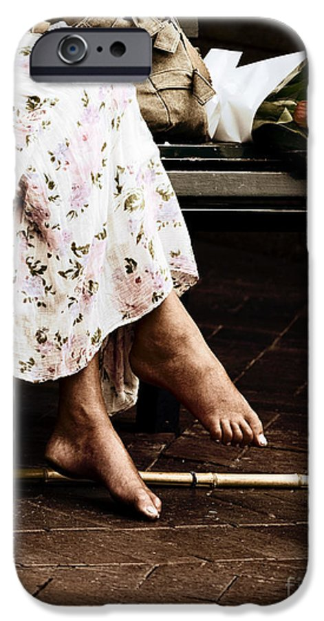 Barefeet Feet Barefoot Tulips IPhone 6 Case featuring the photograph Barefoot And Tulips by Avalon Fine Art Photography