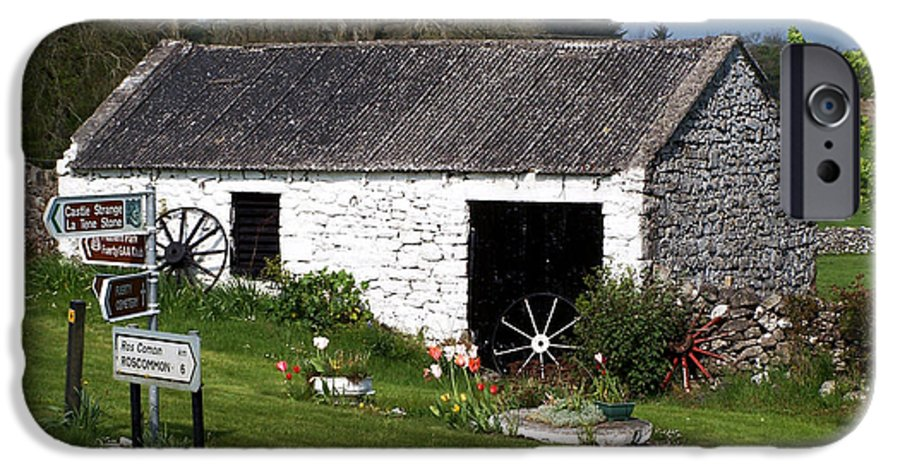 Ireland IPhone 6 Case featuring the photograph Barn At Fuerty Church Roscommon Ireland by Teresa Mucha