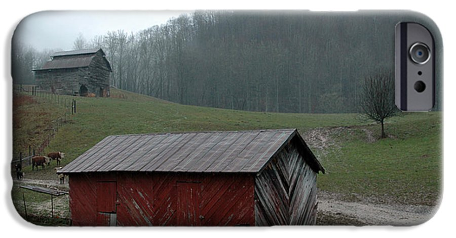 Barn IPhone 6 Case featuring the photograph Barn At Stecoah by Kathy Schumann