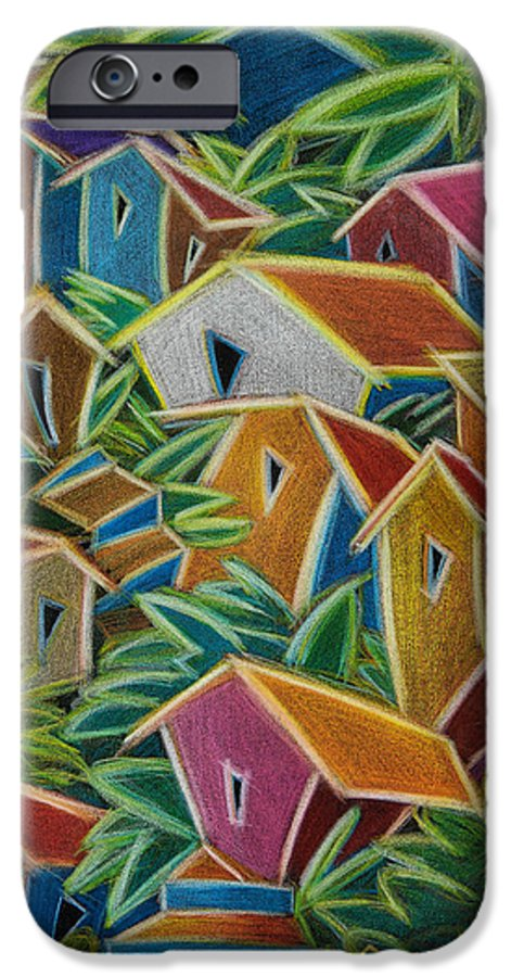 Landscape IPhone 6 Case featuring the painting Barrio Lindo by Oscar Ortiz