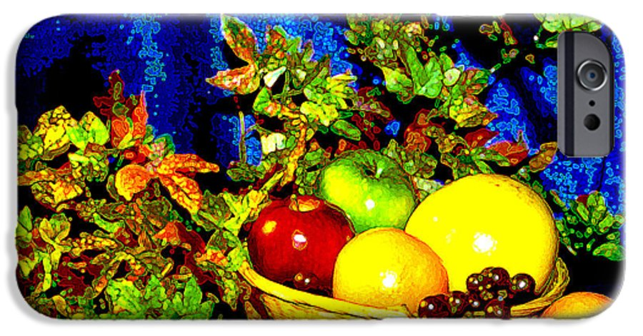 Fruit IPhone 6 Case featuring the photograph Basket With Fruit by Nancy Mueller