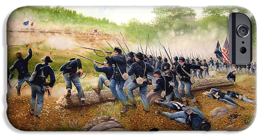 Civil War IPhone 6 Case featuring the painting Battle Of Utoy Creek by Marc Stewart