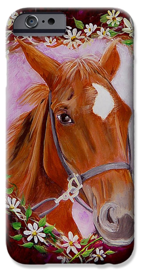 Horse IPhone 6 Case featuring the painting Batuque by Quwatha Valentine