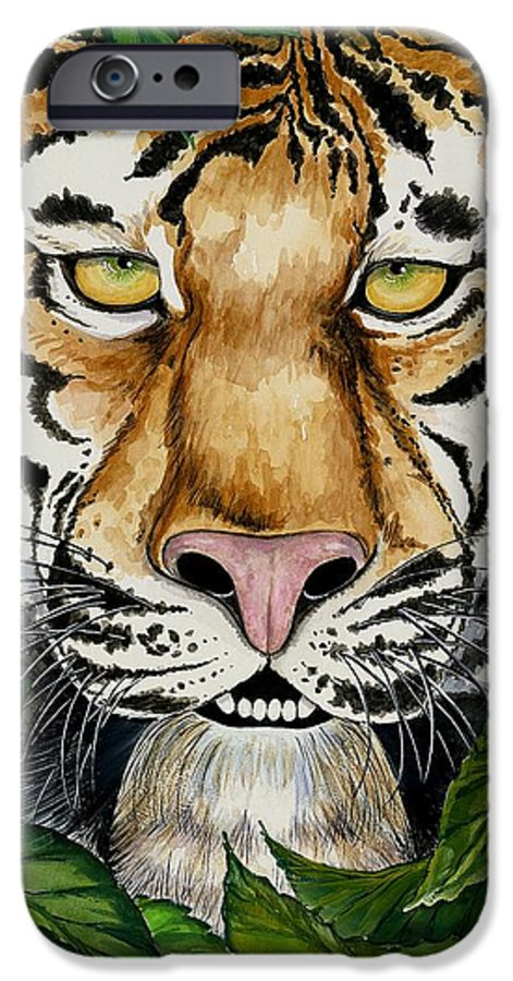 Art IPhone 6 Case featuring the painting Be Like A Tiger by Carol Sabo