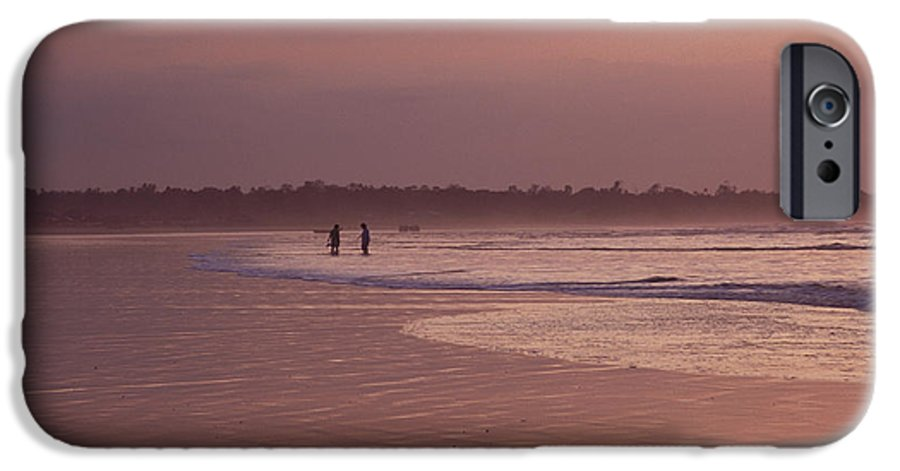 Ecuador IPhone 6 Case featuring the photograph Beachcombers by Kathy McClure