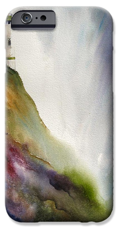 Lighthouse IPhone 6 Case featuring the painting Beacon by Karen Stark