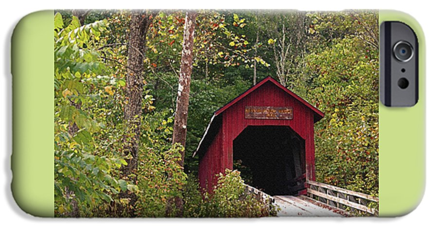 Covered Bridge IPhone 6 Case featuring the photograph Bean Blossom Bridge I by Margie Wildblood