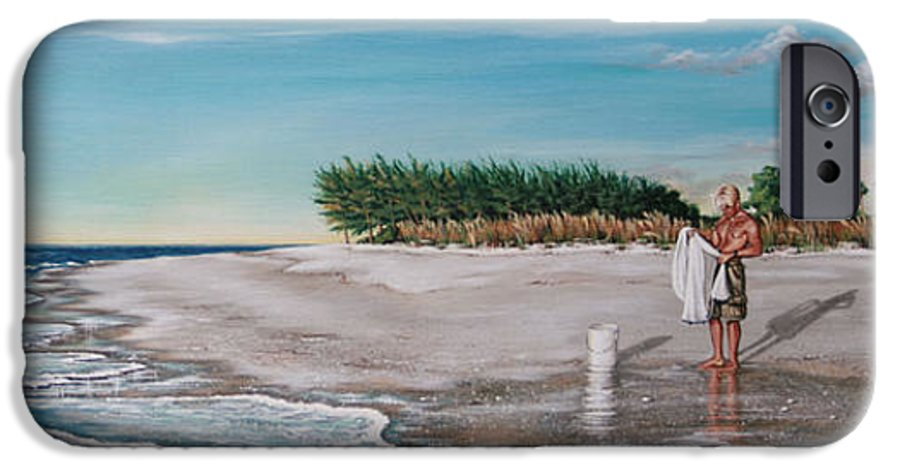 Beach IPhone 6 Case featuring the painting Bean Point by Joan Garcia