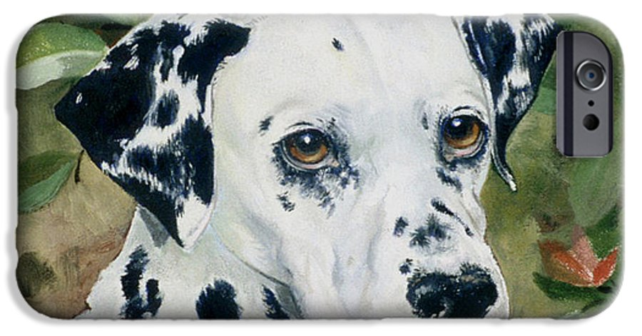Portrait IPhone 6 Case featuring the painting Beaudiddeley by Eileen Hale