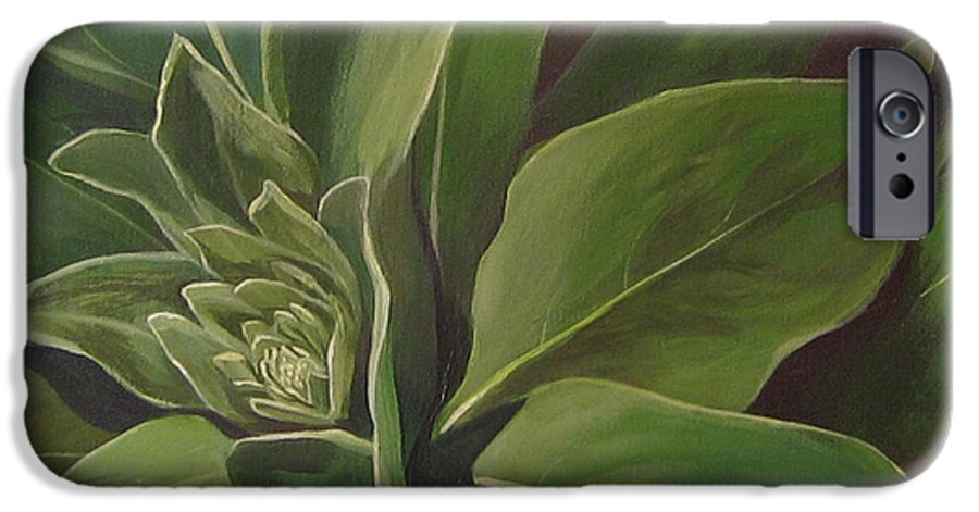 Closeup Of Mullein Plant IPhone 6 Case featuring the painting Beautiful Stranger by Hunter Jay