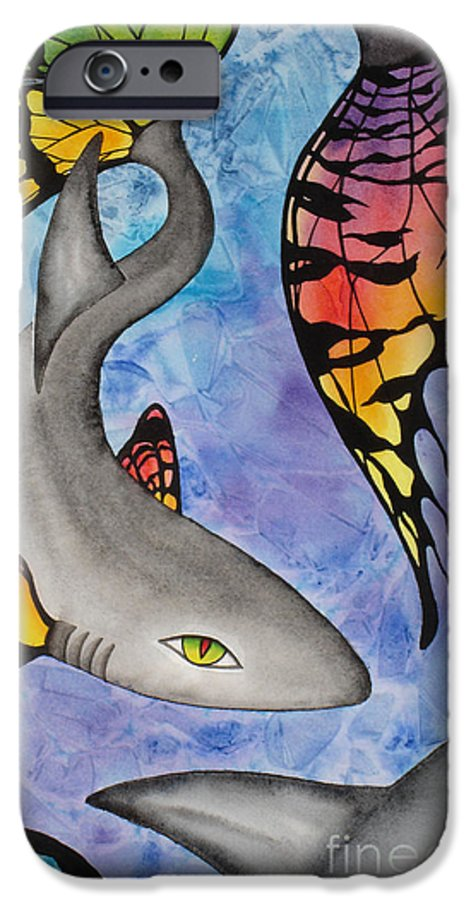 Surreal IPhone 6 Case featuring the painting Beauty In The Beasts by Lucy Arnold